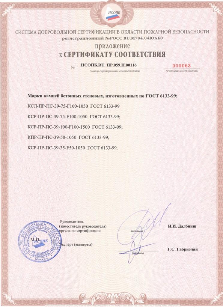 сертификация керамзитобетонные блоки