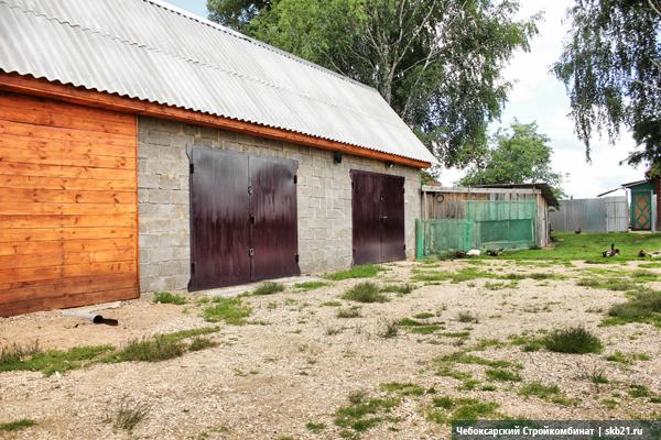 Гараж из керамзитоблоков в Тверской области